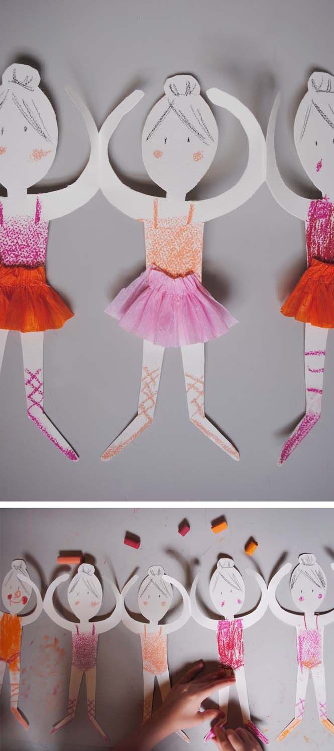 Ballerina Paper Doll Chain | Mer Mag