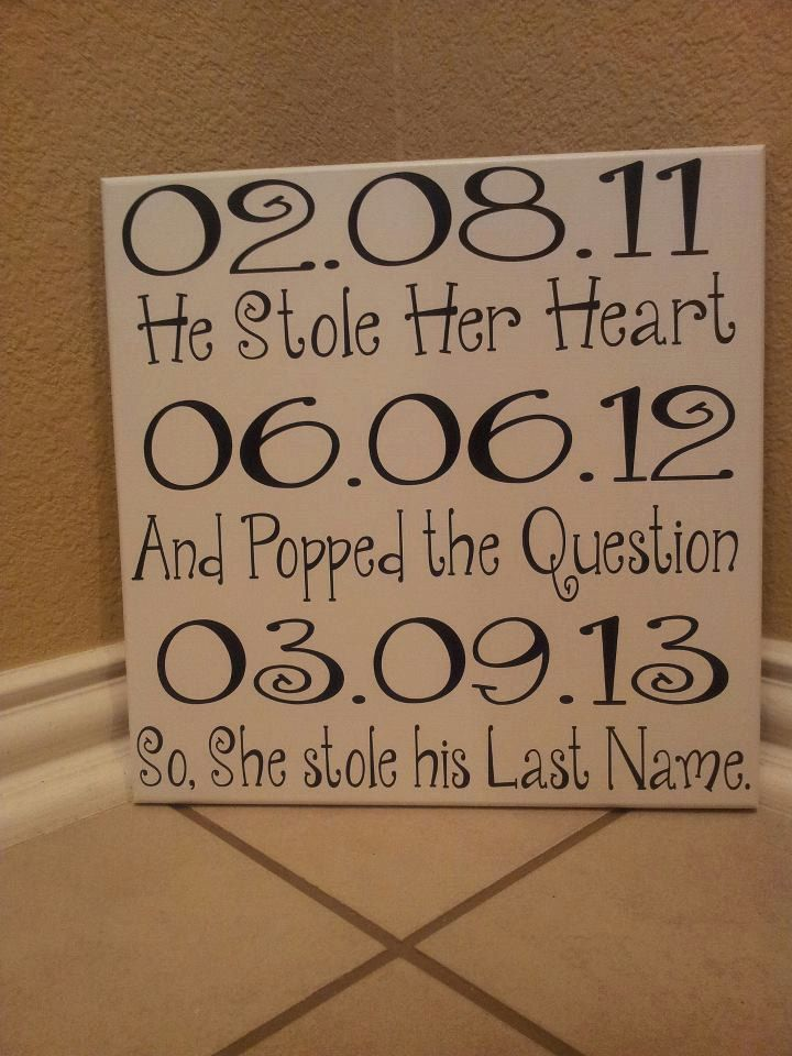 he stole her heart she stole his name | He stole her heart dates Sign by vinylupyourspace on Etsy