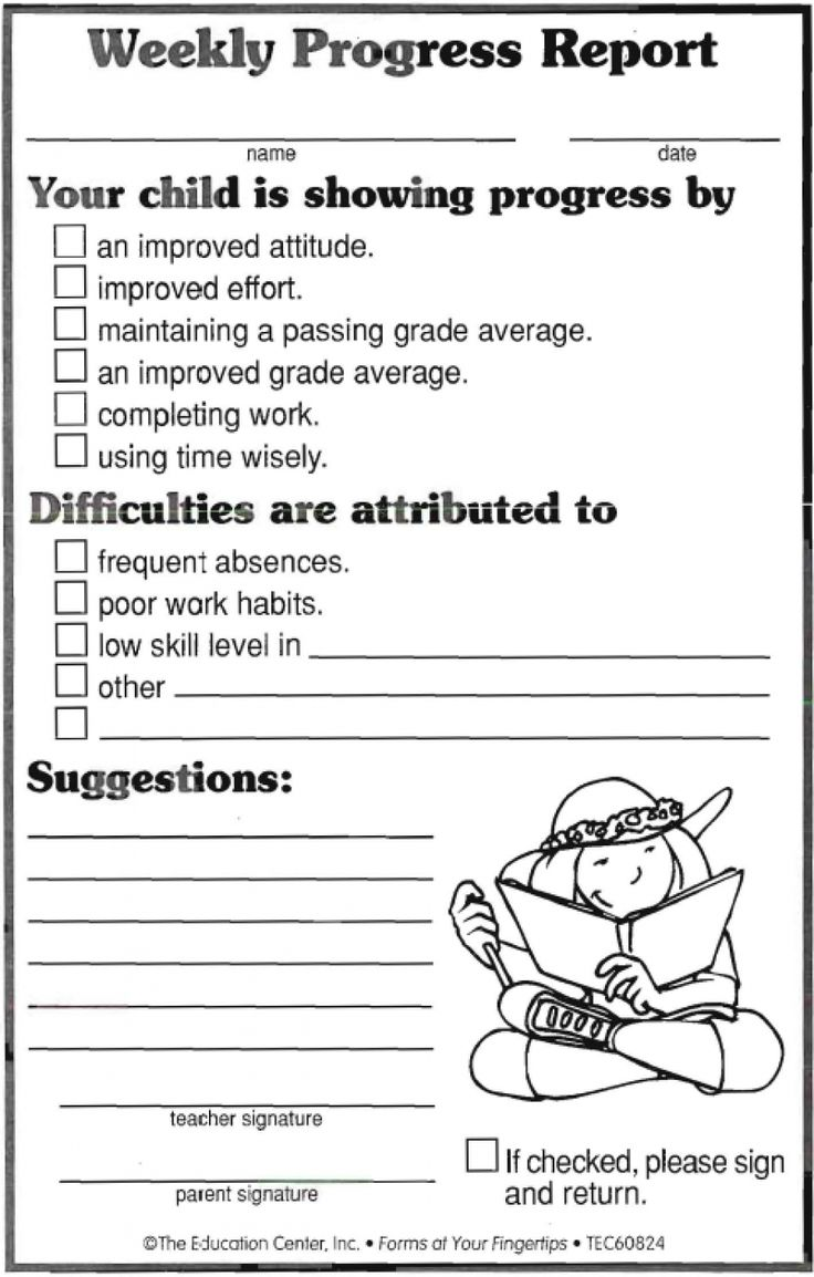 17 Best ideas about Behavior Report – High School Progress Report Template