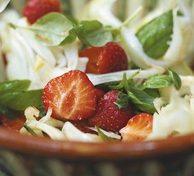 Jordbærsalat med fennikel