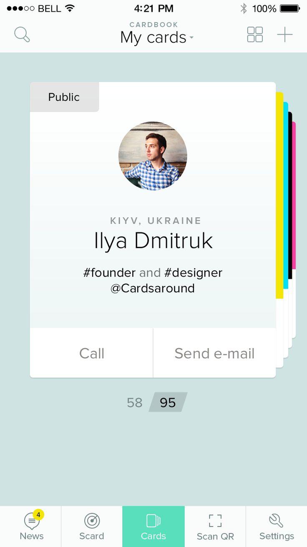 Profile Cards iOS App by Eleken