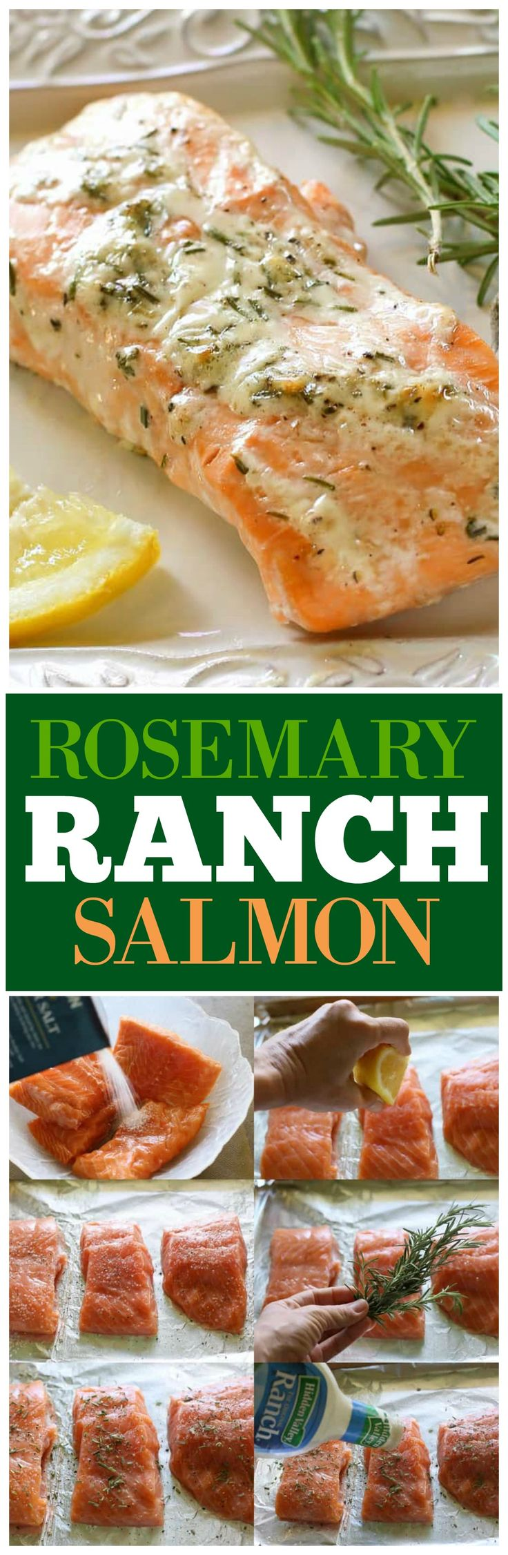 This Rosemary Ranch Salmon is delicious! The combo of the flavors creates a tender and savory sauce that is out of this world.  If you're looking for a baked salmon recipe, this one is so easy and so delicious!