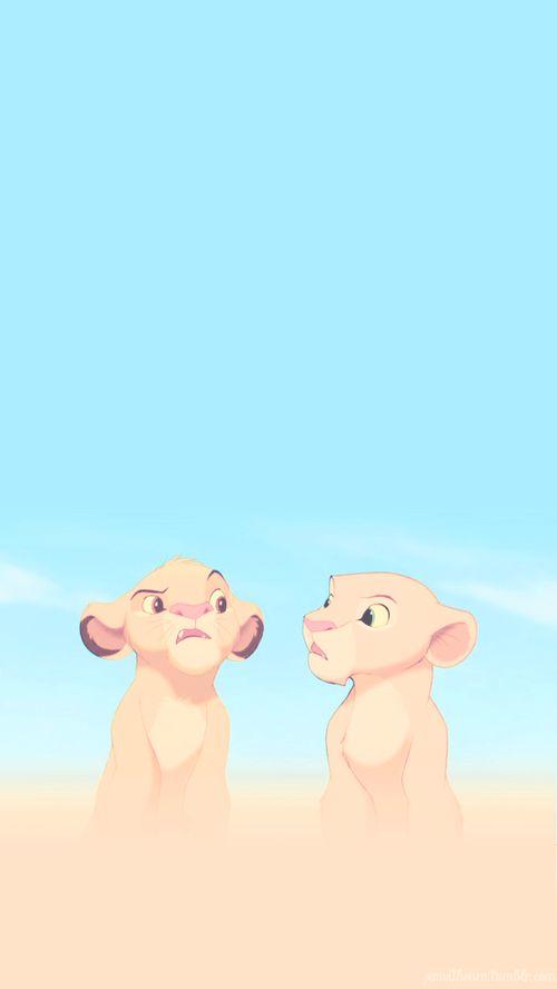 Simba And Nala Iphone Wallpaper Papel De Pared Disney Fondos De Pantalla Tiernos Fondo De