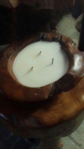 Tempat lilin kayu