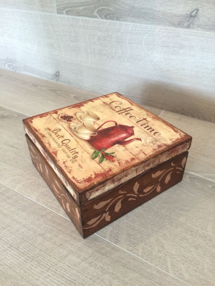 Decoupage Box, Tea Box