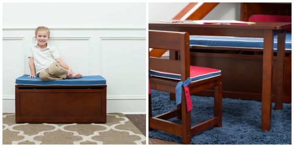 Blue Seat Pad for Toy Box - make it a bench.