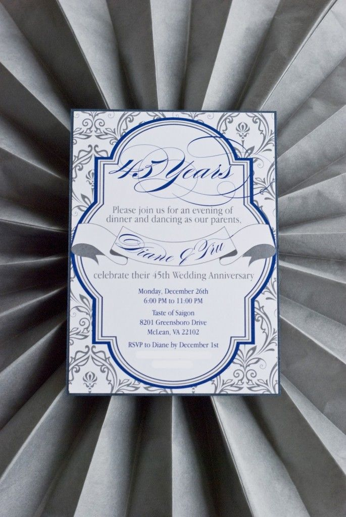 cheap0th wedding anniversary invitations%0A   th Wedding Anniversary Invite
