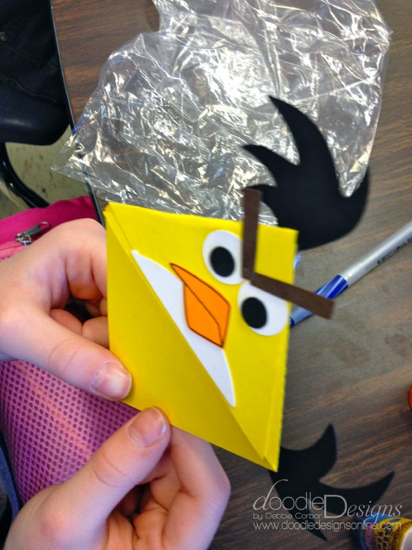 I Did this Angry Bird Book Mark with my kids and it was so much fun :-)