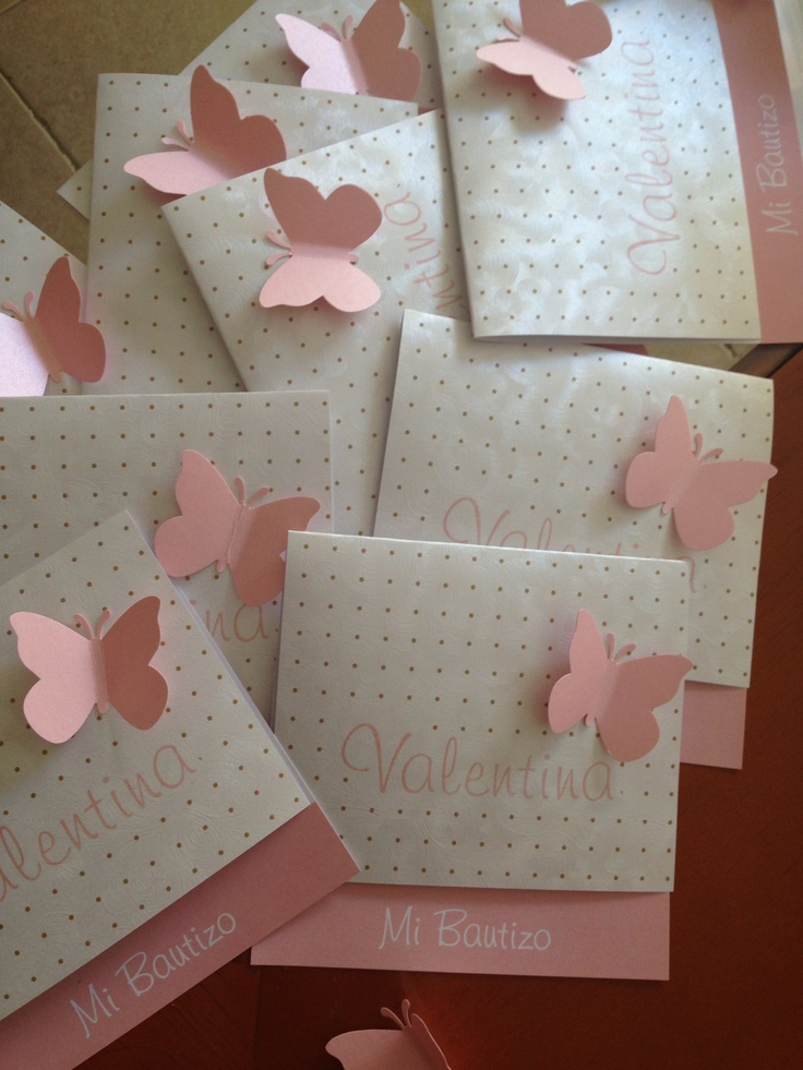 These would make cute invites.....butterfly....or maybe a flower? SIMPLY SWEET!