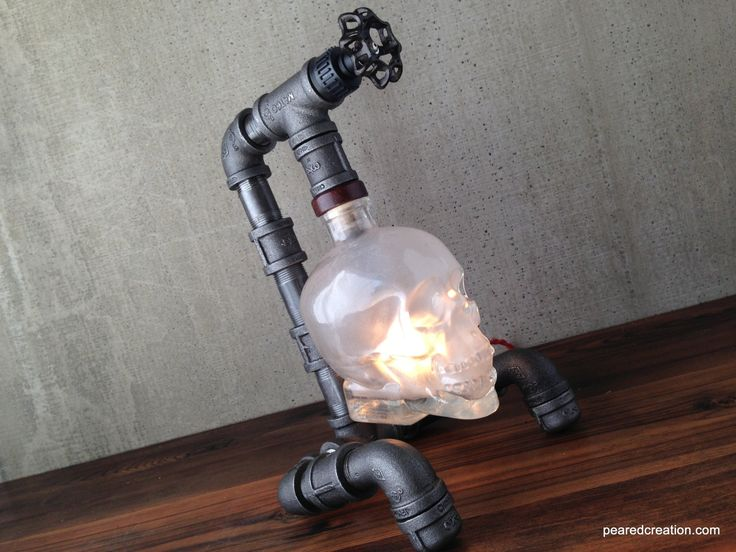 Crystal+Head+Vodka+Lamp++Skull+Light++by+newwineoldbottles+on+Etsy,+$185.00