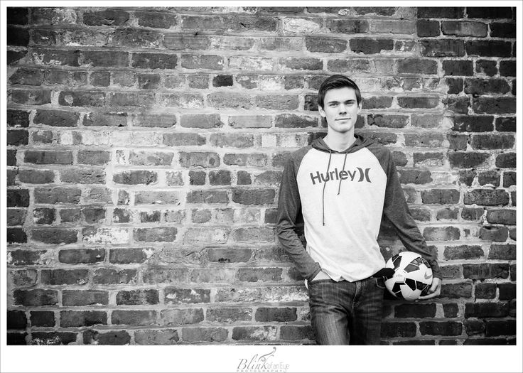 Senior Boy Pose   Soccer   Senior Photography   Black and White