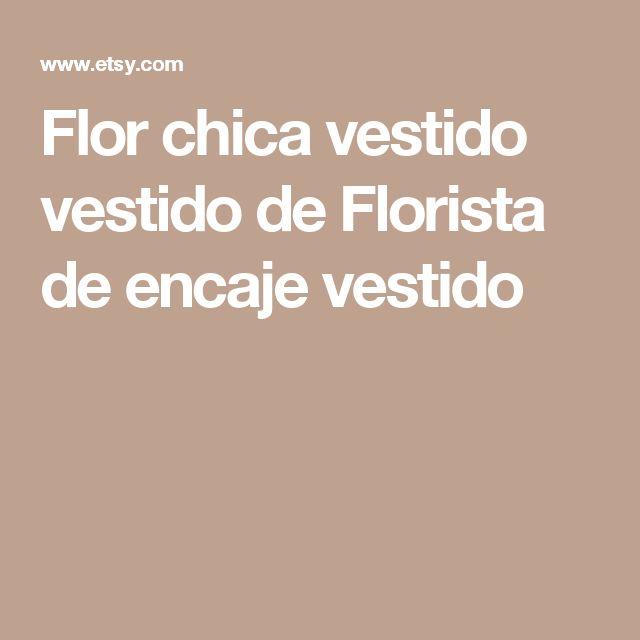 Flor chica vestido vestido de Florista de encaje vestido