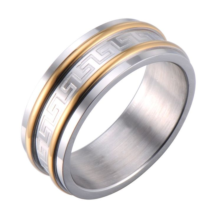 R&B Herren Ring Edelstahl - Unendlichkeit - Griechisches Symbol (Silber, Gold): 19,90€
