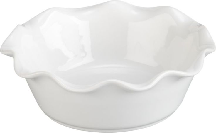 I need about 10 of these!  Ruffled Individual Pie Dish  | Crate and Barrel