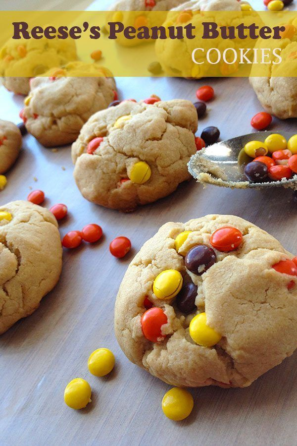 Easy Reese Peanut Butter Cookies Recipe #reeses #peanutbutter #cookies #dessert #dessertrecipes #reesecookies