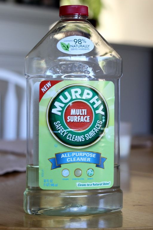 murphy's multi surface all-purpose cleaner - I used this product to clean old dried on paint off my leather sofa.  It worked beautifully!!!  Then I used a dab of Olive Oil rubbed in for added luster.  My couch looks like new again!