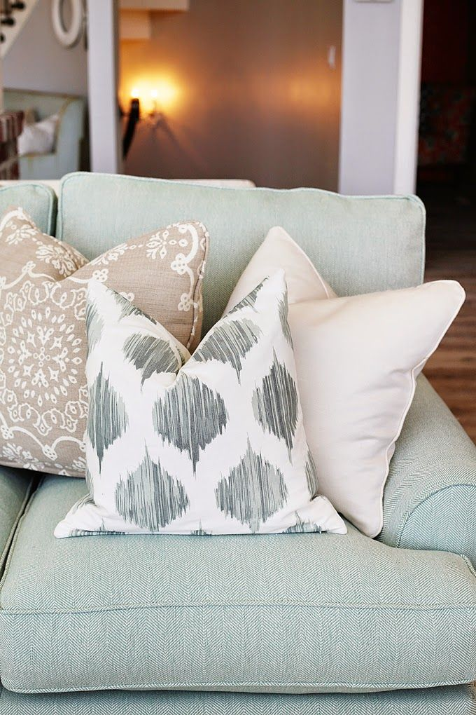 Mint accent couch.