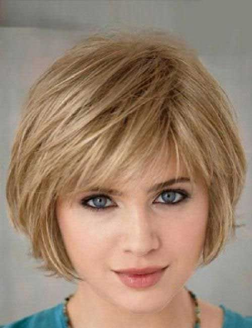 Short Fine Bob Hairstyles with Cute Bangs