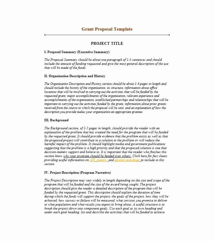 Sample Grant Proposal Non Profit Best Of Grant Writing Template 8 Free Word Pdf Executive Summary Template Proposal Templates Free Business Proposal Template
