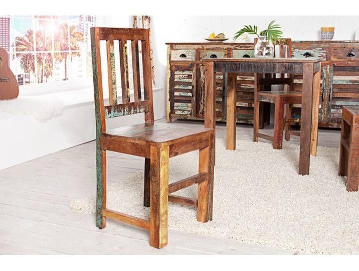 2er Set Massiver Holz Stuhl Jakarta Aus Recycelten Fischerbooten In 2020 Eco Furniture Vintage Interior Design Solid Wood Furniture