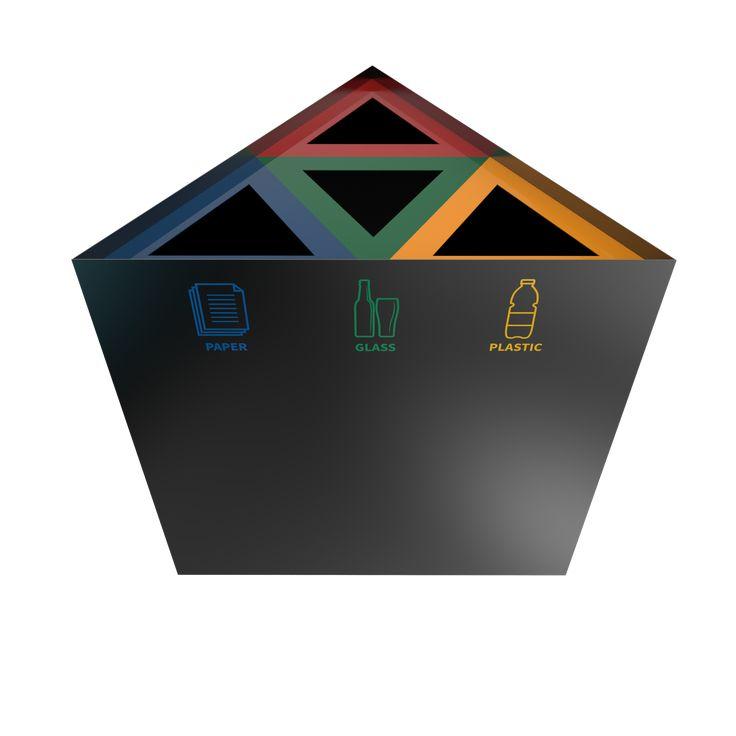 KUNKA PC - Elegant triangle recycling bins