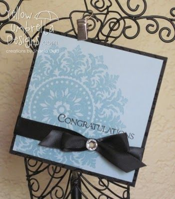 Blue Wedding Card