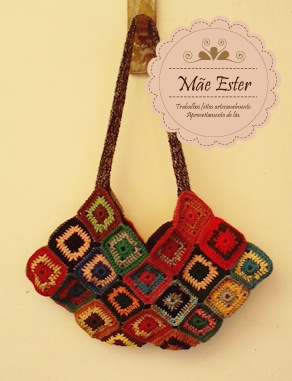 Bag #Crochet wool - #handmade (Available)