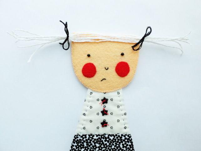Shy Girl - Gretchen - Wall Hanging Figure - Art Doll £20.00