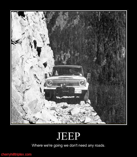 """Back to the Future - """"Where were going we don't need roads"""" #jeep #offroad #jeepfamily"""