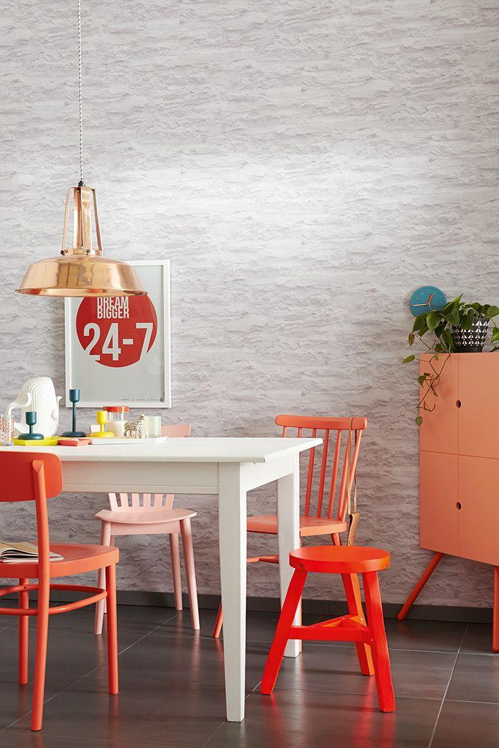 Die besten 25+ Tapete steinoptik Ideen auf Pinterest Steinoptik - steinwand tapete wohnzimmer
