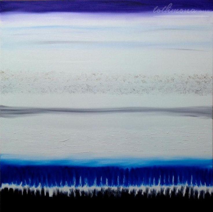 Seasons: Winter | finger painting |oil on canvas | 80x80cm