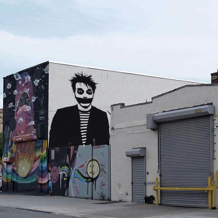 Tape Face Street Art