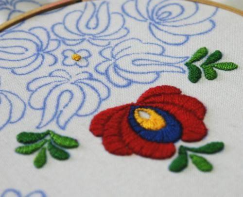 ハンガリー刺繍図案入りクロス(マチョーの図案)