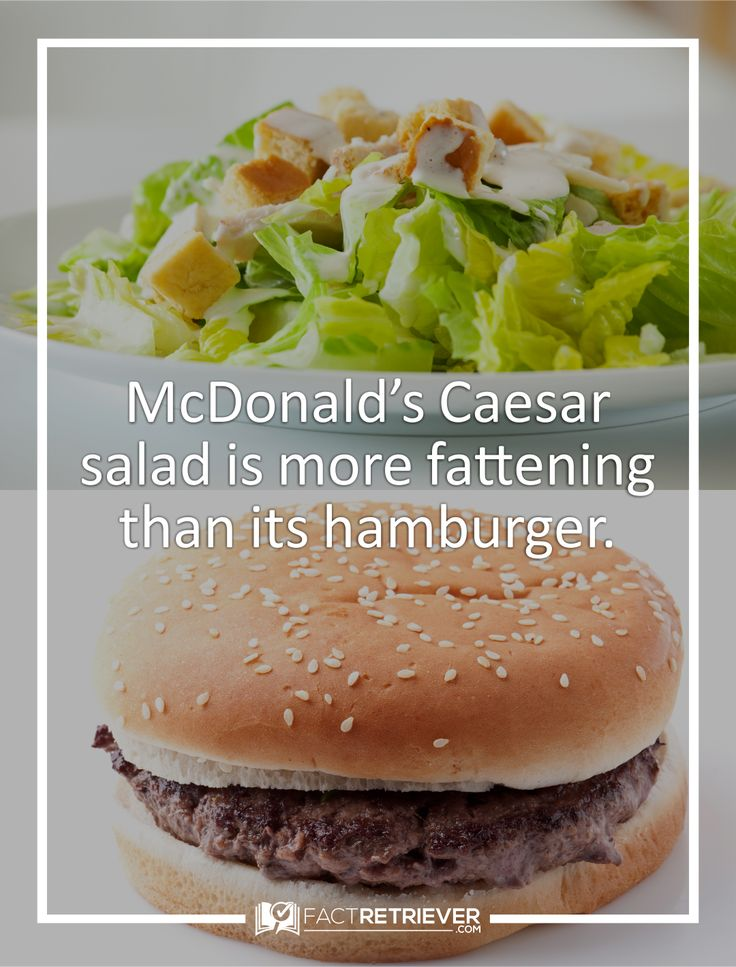 The salad has over 730 calories, 53 grams of fat, and 1,400 milligrams of salt, which is equivalent to 3 traditional McDonald's hamburgers.
