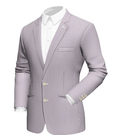 Gregale: lilac pinstriped blazer jacket with button fastening and double welt pocket. Fabric Choice: Venecia   http://www.tailor4less.com/en/collections/custom-jackets/breeze/gregale