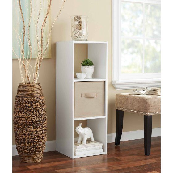 Accessorize your living space with the Cube Bookcase Wood 3 Flat Shelving Space Office Furniture Free Standing White. It provides an option for displaying decorative items or storing things that are more frequently used like towels. This Cube Bookcase Wood  organizer has two cubes that are open on each end and one with a back. Stack them on top of each other or side by side.