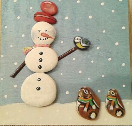 Snowman and his friends.