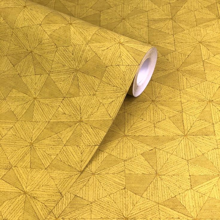 Private Walls Geo Lines Mustard Wallpaper. From the Private Walls collection is this visually stimulating geometric in mustard yellow.