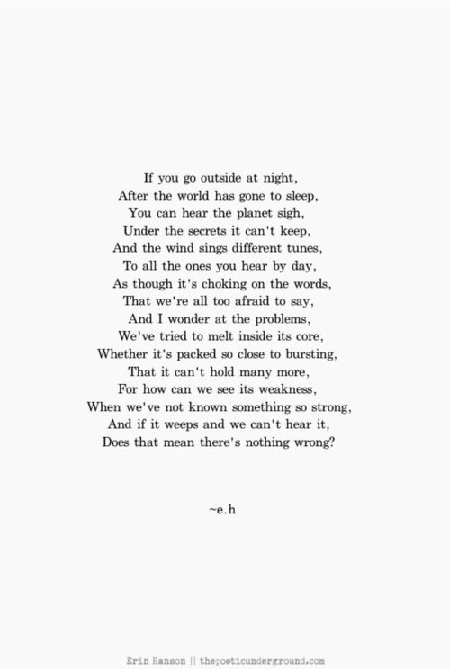 Our Weary World. thepoeticunderground.com #poetry #poem #earth