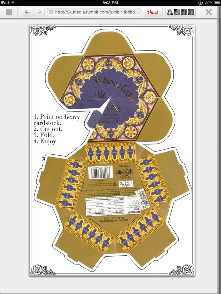 Chocolate Frog Box Template Chocolate Packaging