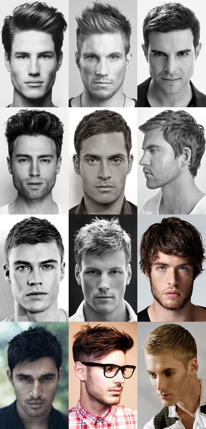 Men's hair styles - center column, third down