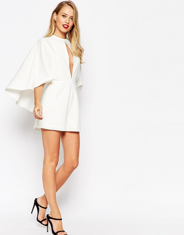 ASOS Occasion Playsuit with Cape and Keyhole