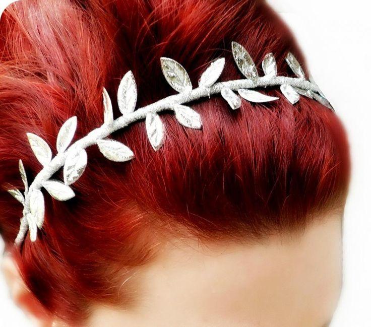Grecian Goddess Headband - Silver Leaf Crown - Greek Goddess Headpiece