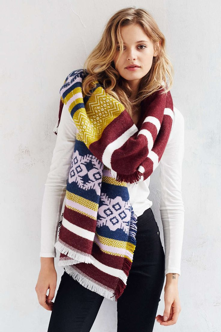 Multi Stripe Blanket Scarf - Urban Outfitters