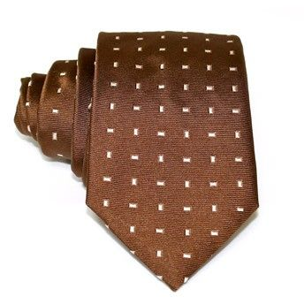 Jacquard tie, 100% silk, brown with pattern. Ideal for less formal occasions but also special occasions. Pattern and color of this elegant tie can fit with any outfit.