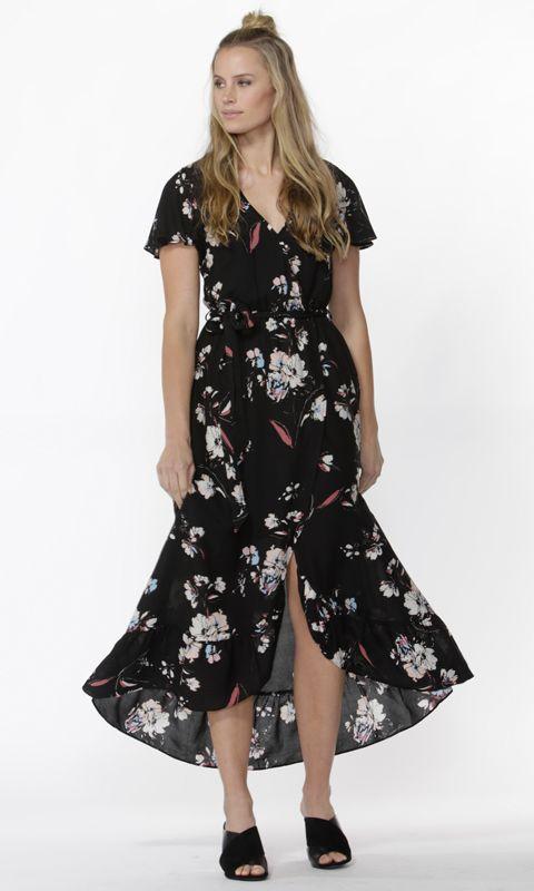 Sass - Nolan Wrap Maxi Dress B