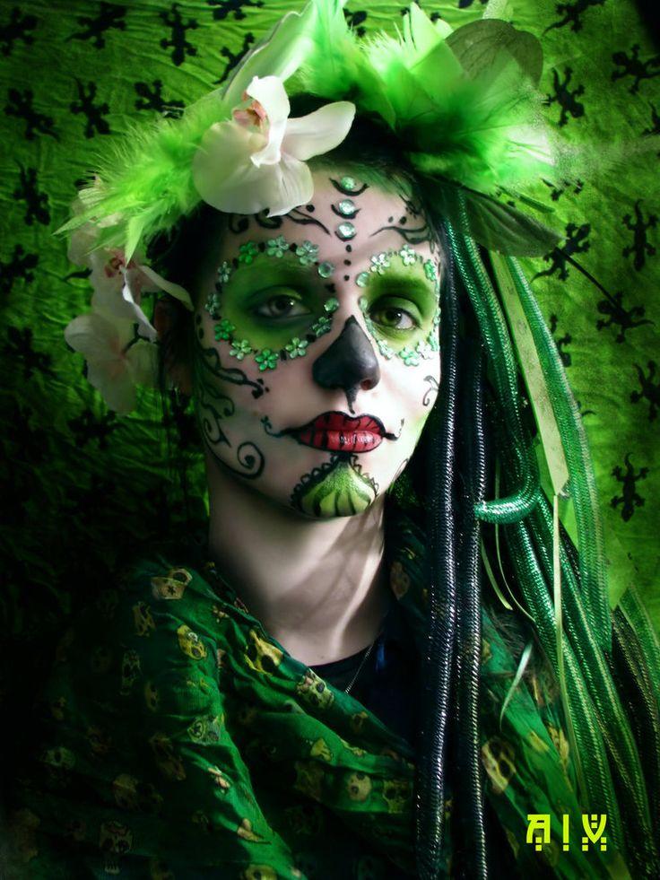 Green Catrina II by AnasthaZia on deviantART