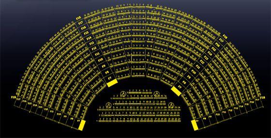 Ecco la mappa delle platee del Teatro Romano