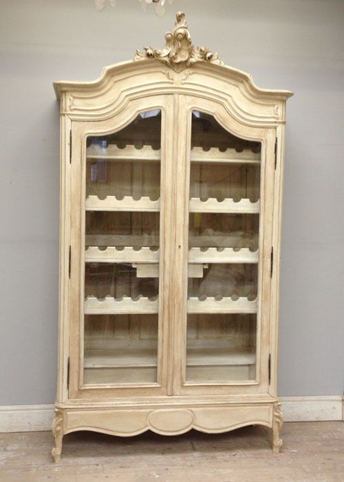 Antique French Armoire Wine Display Storage Restaurant