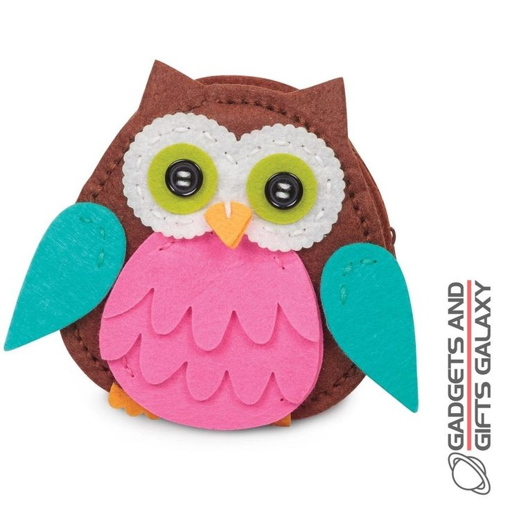 MAKE YOUR OWN OWL FELT PURSE SEWING KIT crafty childs gift toy stocking filler  | eBay